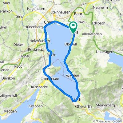Cycling Lake Zug