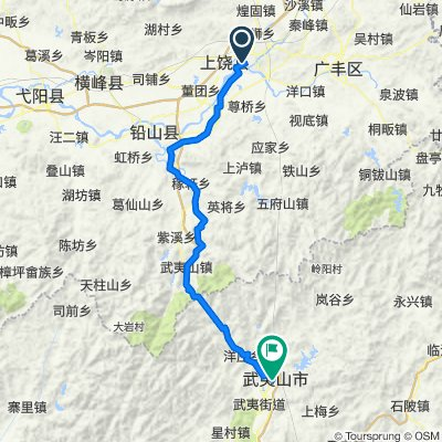 Shangrao to Wuyi