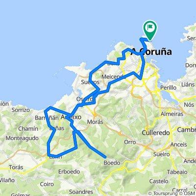 Ruta concellos Coruña-Arteixo