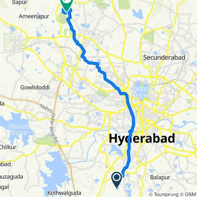 Unnamed Road, Hyderabad to Rajiv Gandhi Nagar, Hyderabad
