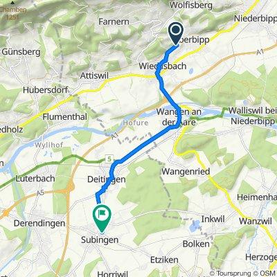 Hasenweg 2, Oberbipp nach Oeschstrasse 5, Subingen