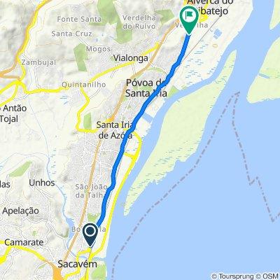Route from Estrada Nacional 10, Bobadela
