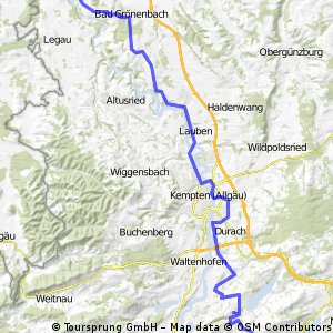 Von Kronburg nach Wertach!