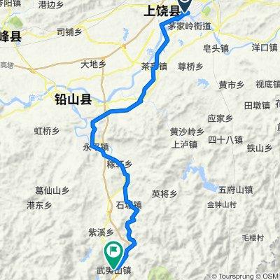 Shangrao to Wuyishanzhen hotel