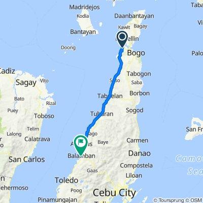 Cebu North Road, San Remigio to E.S. Binghay, Balamban