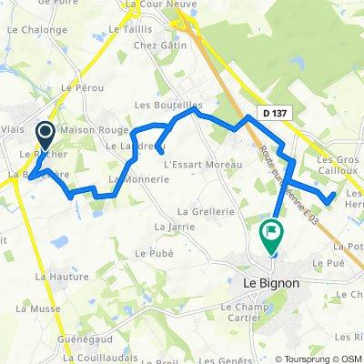 Chemin du Rocher 3, Pont-Saint-Martin à Rue de la Roche 1, Le Bignon