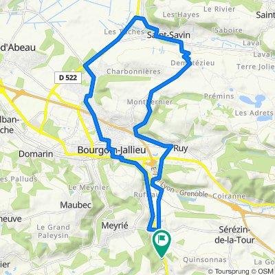 De 3650 Route Départementale 1085, Nivolas-Vermelle à Impasse des Berlioz, Nivolas-Vermelle