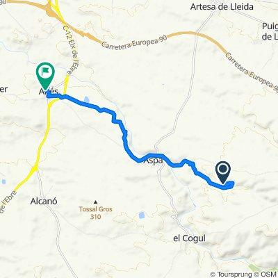 Ruta a Travesía de la Bassa, 4, Alfés