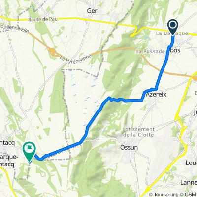De 2 Rue de la Barraque, Ibos à 6 Chemin de la Grange de Bernata, Pontacq