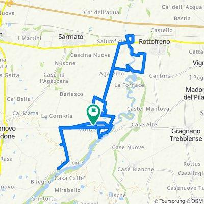 Da Via Agazzino, Borgonovo Val Tidone a Via Agazzino, Mottaziana