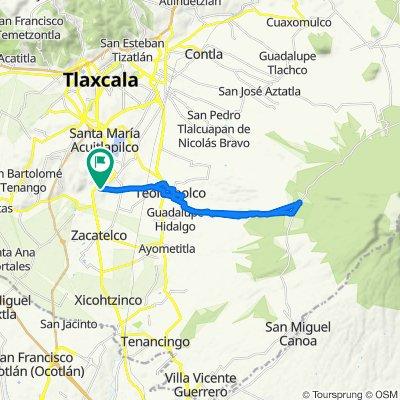 De Avenida Hidalgo 2, Tepeyanco a Avenida Hidalgo 2, Tepeyanco