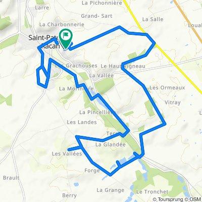 De 16 Rue de la Pinaudiere, Saint-Paterne-Racan à 14 Rue de la Pinaudiere, Saint-Paterne-Racan