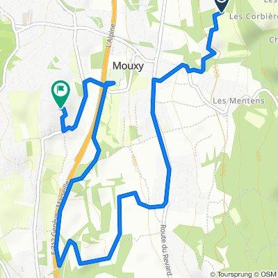 De Route des Barral 430, Pugny-Chatenod à Domaine du Soleil 1, Mouxy