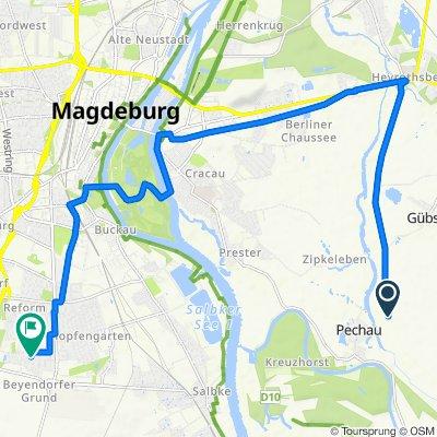 Route nach Marsweg 36–56, Magdeburg