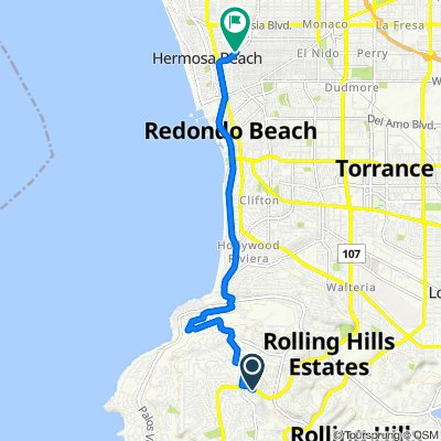 Ravenspur Drive 5757, Rancho Palos Verdes to Aviation Boulevard 1151, Hermosa Beach