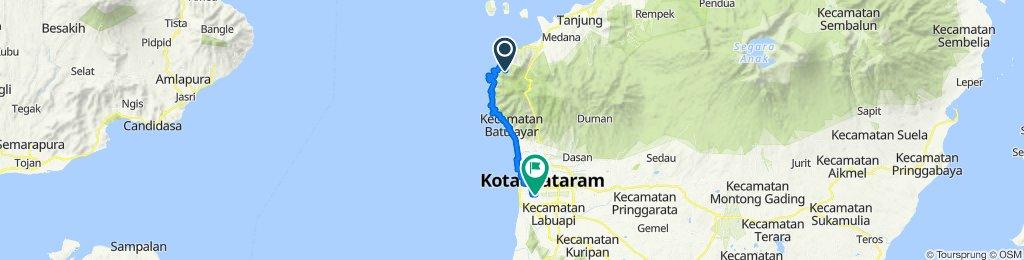 Malaka, Pemenang to Jalan Merdeka Raya 44, Kecamatan Mataram