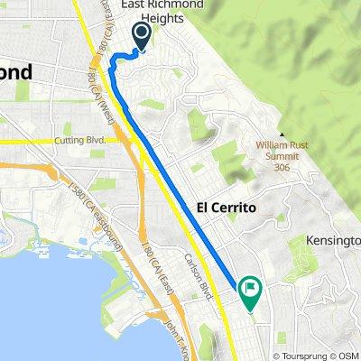 606 Sonoma St, Richmond to 510 El Cerrito Plz, El Cerrito