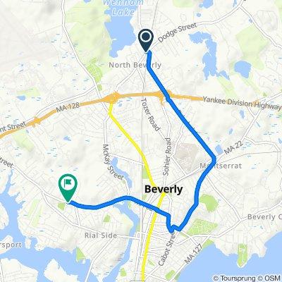 139 Dodge St, Beverly to 1–17 Davis Rd, Beverly