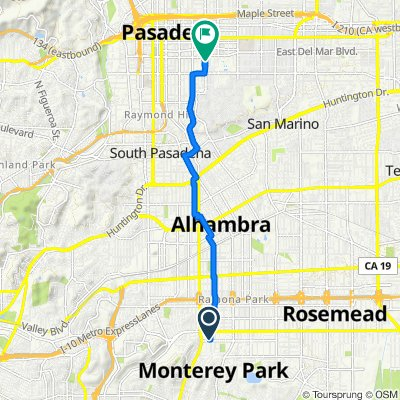 235 S Moore Ave, Monterey Park to 370 S Lake Ave, Pasadena