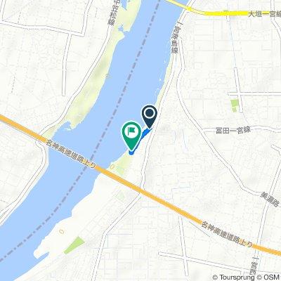 2153-8, Tomida Sunahara, Ichinomiya-Shi to Tomida Sunahara, Ichinomiya-Shi