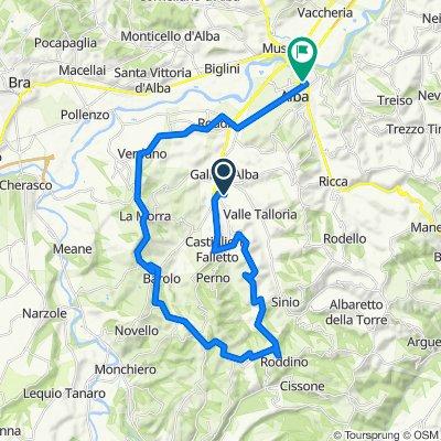 Da Via Alba - Narzole 7, Diano D'alba a Piazza Trento e Trieste 1, Alba