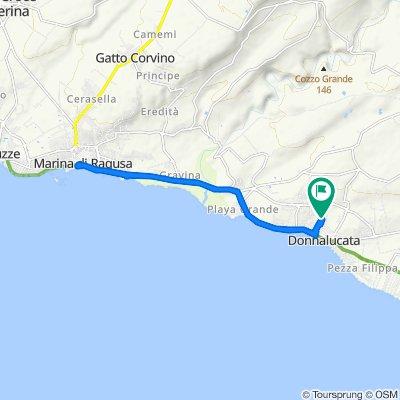 Da Viale Altamura 301, Donnalucata a Via Latina 142, Donnalucata
