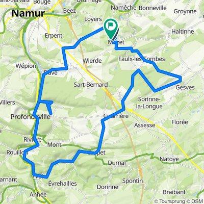 Tour Mozet Gesves Yvoir