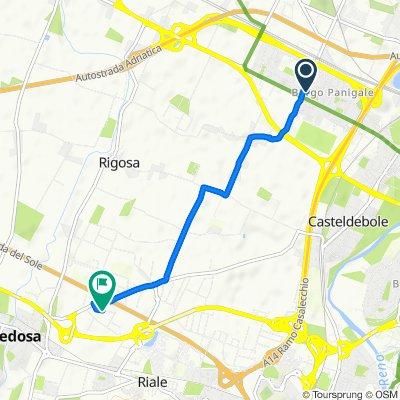 Da Via Roberto Koch 1, Borgo Panigale a Via Lazio 3/A, Zola Predosa