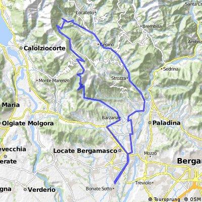 Bonate Sopra - Palazzago - Valcava