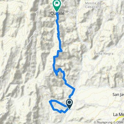 De San Joaquín-Peña Negra, La Mesa a Carrera 2 6-11, Cachipay