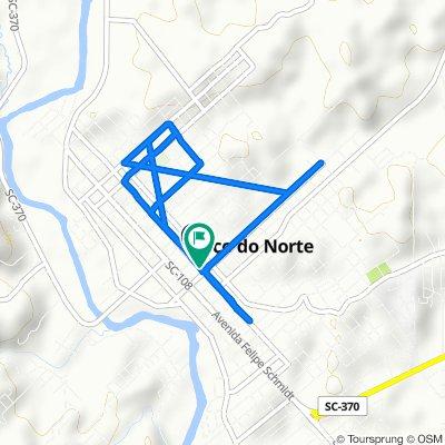 De Rua Governador Jorge Lacerda, 1004–1134, Braço do Norte a Rua Governador Jorge Lacerda, 1003–1133, Braço do Norte