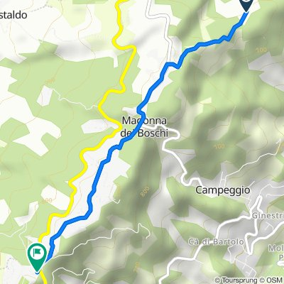 Da Via Gragnano, Monghidoro a Ca' Dei Marchi Bivio, Monghidoro