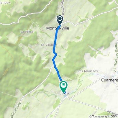 De Route de Moiry 2–4, Mont-la-Ville à Rue du Château 5, L'Isle