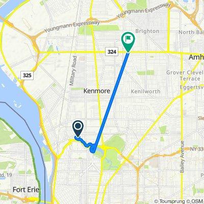 Amherst Street 601, Buffalo to Sheridan Drive 2285, Buffalo