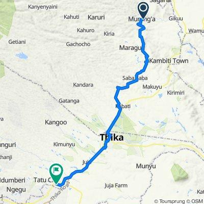 Unnamed Road, Murang'a to Church Lane, Green Valley court, Ruiru