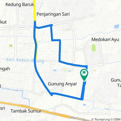 Jalan Gunung Anyar Jaya 78, Kecamatan Gunung Anyar to Jalan Gunung Anyar Jaya 70, Kecamatan Gunung Anyar