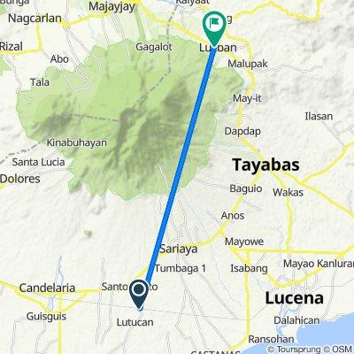 Lutucan - Guisguis Road 368, Sariaya to Gomburza Street 73, Lucban