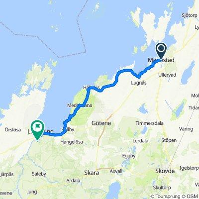 Mariestad till Lidköping