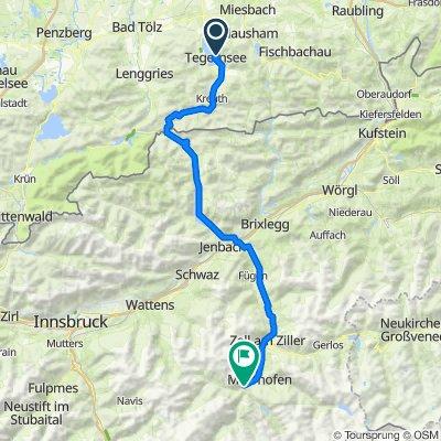 07/2020 MTB-Albencross Tag 1 von 5: Tegernsee-Zillertal-Finkenberg