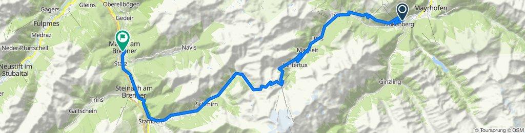 07/2020 MTB Alpencross Tag 2 von 5:Finkenberg-Hintertux-Matrei/Brenner