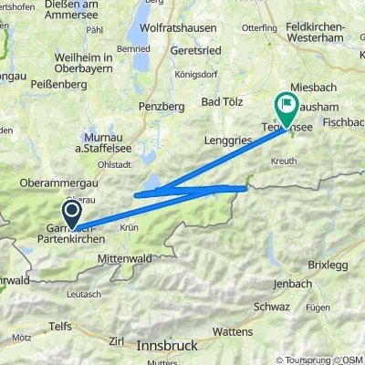 07/2020 MTB Alpencross Tag 5 von 5:  Garmisch-Walchensee-Sylvensteinspeicher-Tegernsee