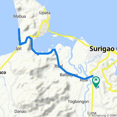 Restful route in Surigao City