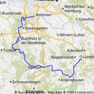 Harburger Berge Runde - Radfahren 29.08.2008