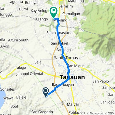 Bagumbayan Road, Tanauan to Unnamed Road, Calamba