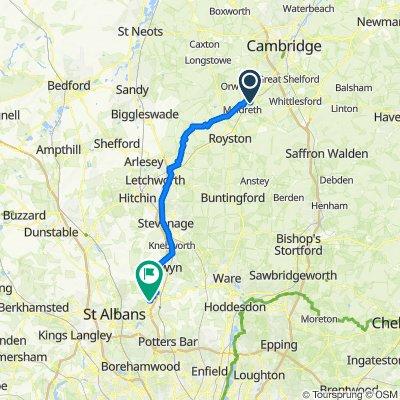 75–83 Frog End, Shepreth, Royston do 10 Hearleway, Hatfield