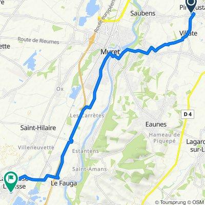 De 9 Rue Jean Gabin, Pins-Justaret à 7 Chemin de Berges, Lavernose-Lacasse
