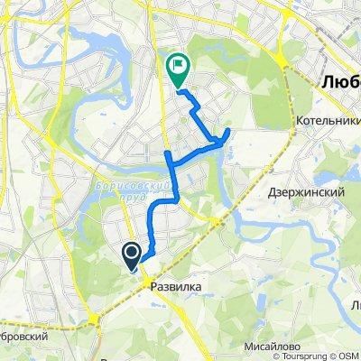 От 6-й микрорайон Орехово-Борисова, Москва до Армавирская улица 7, Москва