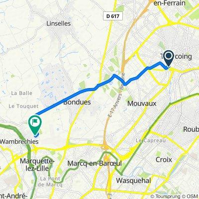 De 14 Rue de Turenne, Tourcoing à 150 Avenue de l'Espace, Wambrechies