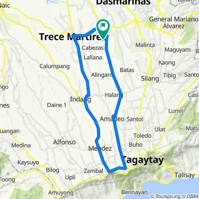 Sporty route in General Trias
