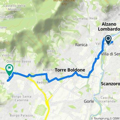 Da Via Piero e Antonio Cavalli, Villa di Serio a Via Ottaviano Brembati 12, Bergamo